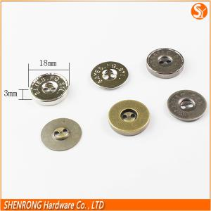China Wholesale price hanging sewing round bags&garments magnetic buttons magnetic snap fastener on sale
