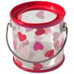 Caixa plástica da lata do PVC dos recipientes dos doces da lata com armazenamento do corpo transparente/alimento