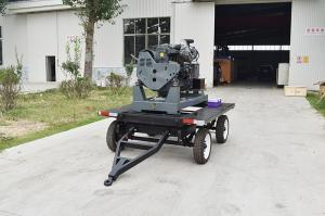 China 30kw / 37.5kva 4 cylinders silent diesel generator set / movable trailer mounted generator on sale