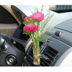 Sunflower Transparent Car Vase And Flower For Car Interior Air