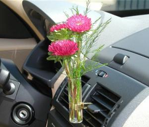 Quality Sunflower Transpa Car Vase And Flower For Interior Air Freshenering Ts