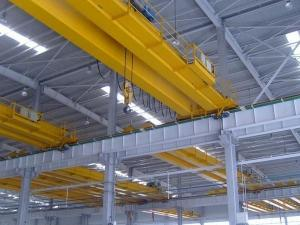 China Yellow Color Double Girder Overhead Crane Lhb Type Anti Exlosion Hoist on sale