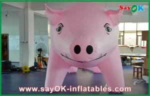China Pink Inflatable Advertising Pig L6m x W3m x H3m For Promotion on sale