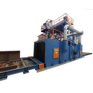 China Steel Structure Cleaning 0.2m/Min H Beam Shot Blasting Machine 5.5kw*10 on sale