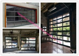 Motorized Aluminum Insulated Tempered Glass Full View Overhead
