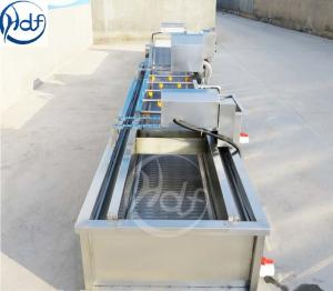 China Automatic Ultrasonic Vegetable Washing Machine Customized Color For Food Processing on sale