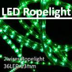12V/24V/110V/230V 2 wires 13mm round 36 LED/m LED flexible rope light IP44 waterproofed