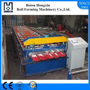 China Panel Roof Roll Forming Machine With Manual Cutter Smooth Roof Surface on sale