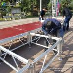 Outdoor adjustable performance event stages for sale ,portable aluminium party concert mobile stage platform