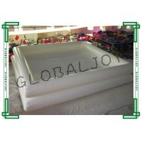 Inflatable Small Above Ground Pools with White 0.9mm PVC Tarapulin