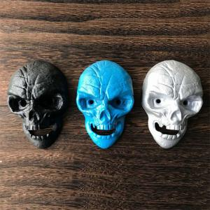 China Cool Innovative Cast Iron Skull Head Wall-mounted Bar Beer Bottle Opener, White Blue and Black Color, Engrave Logo on sale