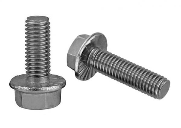 Plain Finish Fully Threaded Flange Frame Bolts FT UNC 3/8 \