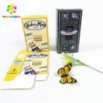 Full color customized logo UV craft paper boxes with hang hole bottle gift cosmetics packing box