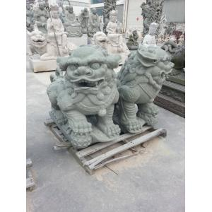 China Carved Stone Animal Lion Statue on sale