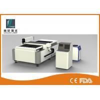 Semi Automatic CNC Laser Cutting Machine , Double Driving Metal Sheet Cutter