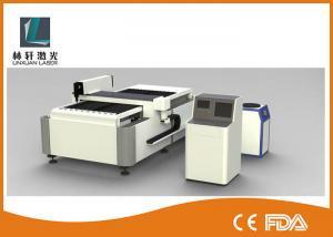 China Semi Automatic CNC Laser Cutting Machine , Double Driving Metal Sheet Cutter on sale