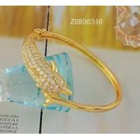 18k gold plating bangle bracelet charm