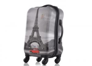 China OEM ODM PC trolley case 18 22 inch two piece luggage set with X straps and buckles inside on sale
