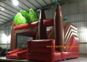 China Customized Size Inflatable Jumping Castle With Bouncy House / Slide Dinosaur Theme on sale