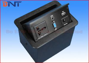 Conference Desktop Power Sockets Pneumatic Table Pop Up Socket Box - Conference table electrical box
