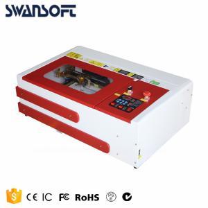 China SWANSOFT mini lazer engraver, small mini co2 40W laser rubber stamp engraving machine 3020 on sale