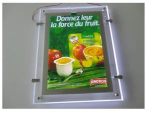 China Slim advertising led illuminated crystal light box on sale
