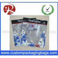 China Three Side Sealed Plastic Ziplock Bags Non Toxic Material For Frozen Food Packing on sale