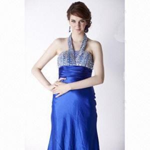 China Sheath/Column Floor-length Elastic Silk Like Satin Evening Dress with Beading on sale