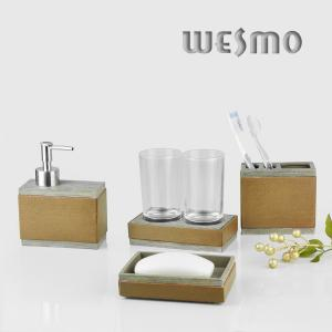 China Polyresin Bathroom Set with Soap dispenser / Tumbler / Soap dish / Soap dispenser on sale