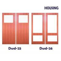 OEM Timber Composite Doors With Fir Wood / MDF Door Leaf & Frame
