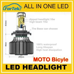 China Sold to Germany! All in one CREE motorcycle led headlight on sale