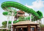 Large durable Custom Water Slides / Profitable water amusement play equipment for families by raft or body