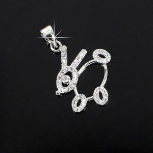 China Fashion 925 sterling silver pendant with cz, OEM  offer on sale