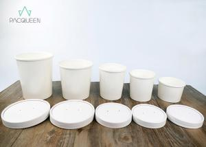 China Leak Proof Disposable Take Away Food Containers Round Soup Cups With Lids For To Go Order on sale