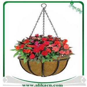 China Wire Hanging Planter With Replacement Coco Liner on sale