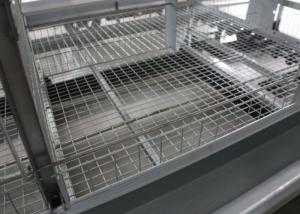 China 4 Tiers A Type Chicken Cage Holding Poultry Electrostatic Spraying Treatment on sale