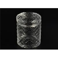 China Bulk Glass Tealight Holders / Glass Candlestick Holders Used In Sented Soy Wax on sale