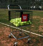 Carro de ensino do tênis do carro da bola de tênis para treinar