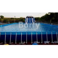 China Outdoor Durable 0.9mm PVC Tarpaulin Metal Frame Swimming Pool For Water Park on sale