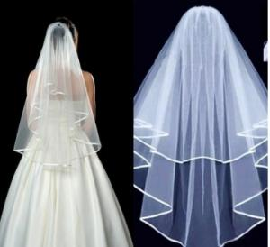China Milk white bridal veil spot manufacturer sells a new style of hair, bridal veil, wedding dress, 3pcs sales on sale