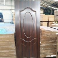 China E0 Glue Wood Veneer Door Skins , Customizable Length MDF Internal Door Skins on sale