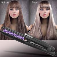 Wet and Dryer Nano Titanium Plate digital Ionic Hair Straightener argan steam styler
