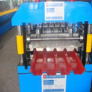 China 7.5kw High Speed Metal Roof Roll Forming Machinery with Man-made Uncoiler for Lighting on sale