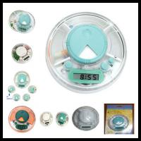 China Flying Plate-look Digital Medicine Electronic Pill Box Timer With 24 Hours Alarm on sale