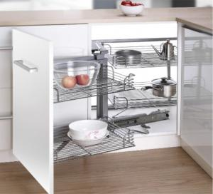 Metal Modern Kitchen Accessories Cabinet Drawer Magic Corner Pull