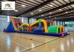 Giant Inflatbale Sport Game PVC Obstacle Course Outdoor Game For Kids