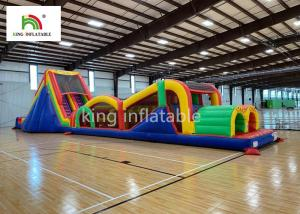 China Giant Inflatbale Sport Games Blow UP Obstacle Course For Kids 2 Years Warranty on sale