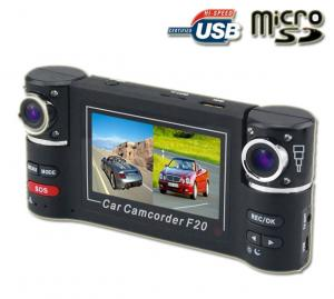 China Portable Remote Control  HD Mini 2.7 Inch TFT LCD Screen Car DVR  With Two Camera on sale