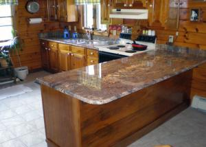 China United States Popular Precut Granite Countertops / Stone Effect Kitchen Worktops on sale