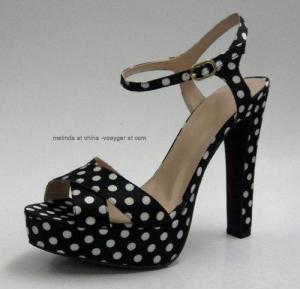 China Spot Satin Peep-Toe Sandals on sale